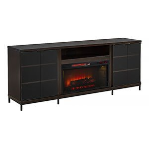 Cabinet Electric Espresso Fireplace - Hastings Cabinet Espresso & 28