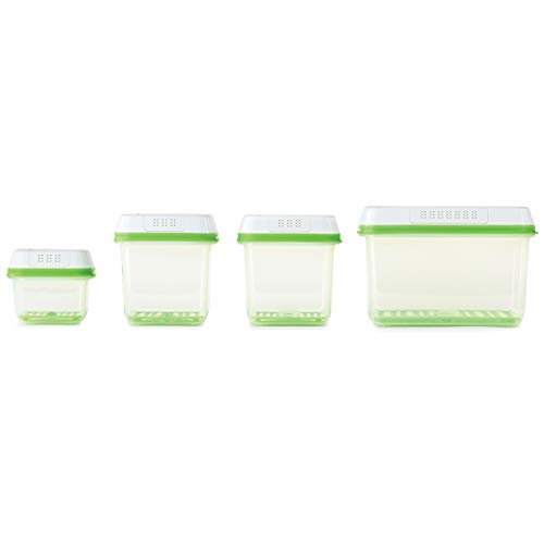 (Rubbermaid 2041779 FreshWorks 8-Piece Produce Saver Food Storage Container Set,)