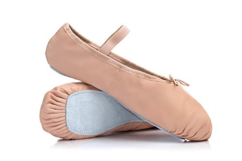Adult Economy Leather Full Sole Ballet Shoes T1000PNK06.5M Pink 6.5 M US