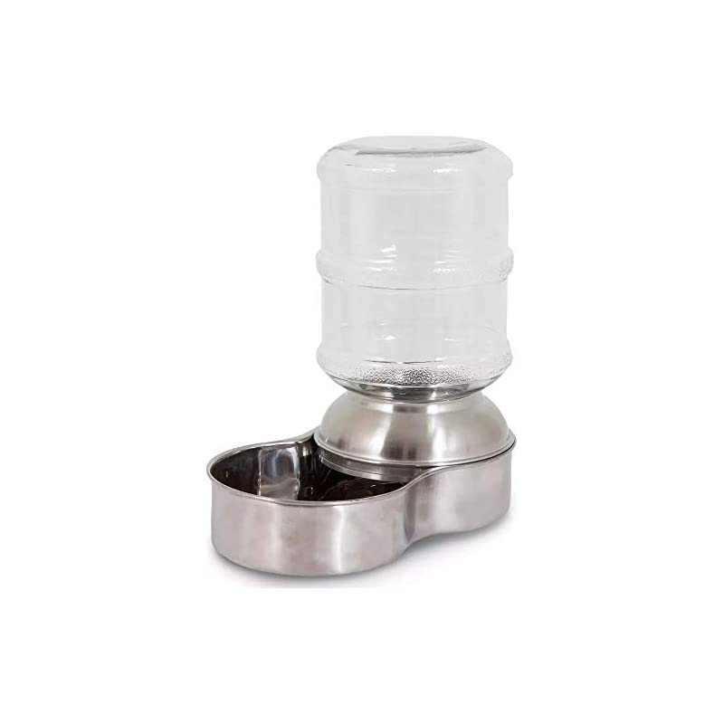 dog supplies online petmate stainless steel replendish waterer