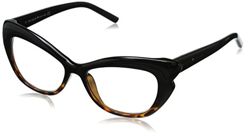 Kate Spade Women's Alva Cateye Readers, Black Tortoise Fade & Clear 2.0, 52 - 2 Sunglasses Kate