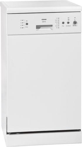 Bomann GSP 776.1 Freistehender Geschirrspüler / A+ A / 9 Maßgedecke / 55 db / weiß / 6 Programme / Überlaufsicherung / LED-Kontrollanzeigen / 45 cm