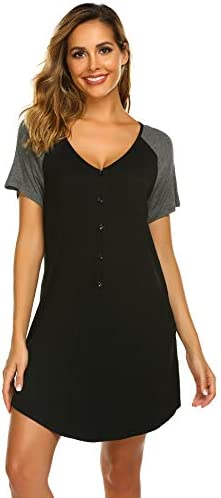 Ekouaer Womens Nightshirt Boyfriend Sleepwear product image