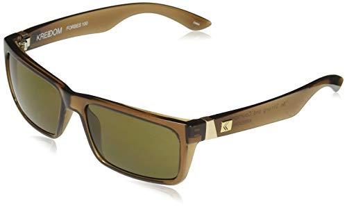 KREEDOM SKFFAFORGLB Forbes 100 Sunglasses, One Size, Gloss Crystal ()
