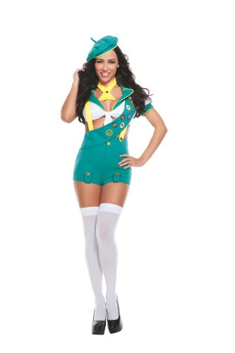 - Starline Sexy Camp Fire Cutie Women's Costume, Green, Medium