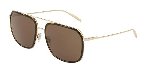(Dolce & Gabbana Men's DG2165 Pale Gold Havana/Brown One Size)