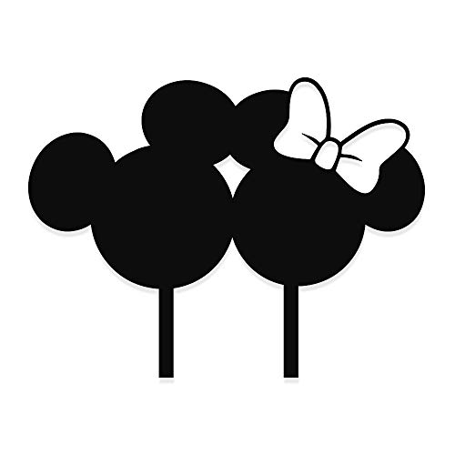 Mickey Mouse Wedding Cake topper, Mickey and Minnie wedding topper by Acrylic Art Design