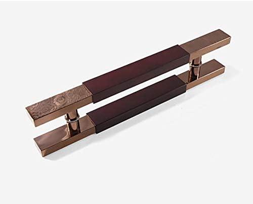 取手 ガラスドアハンドル手すりソリッドウッドドアハンドルチタンハンドルログイン 家庭装飾 (Color : Rosewood2, Size : 1000mm)