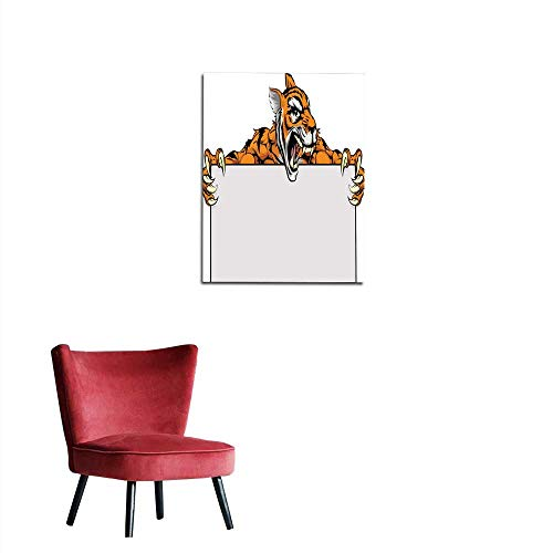 longbuyer Wall Paper Tiger Character Sign Mural 24