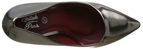 Initiale Tan - Zapatos de vestir Mujer Plateado - Argent (Etain)
