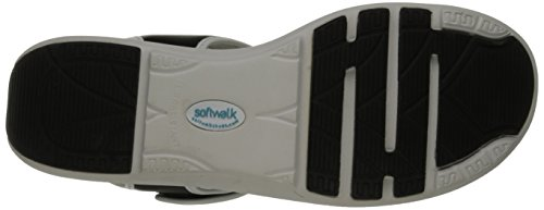 Softwalk Elevate sandalias de cuña Black-White