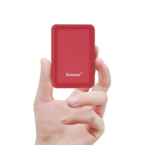 Xnuoyo Mini Power Banks 10000mAh Portable Charger Ultra Compact Power Bank with Dual Input and Output External Battery Pack Compatible with Most Smart Phones(Red) (Top 10 Places To Visit In Berlin)
