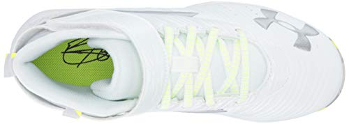 Under Armour Boys' Harper 3 Mid Jr. RM Baseball Shoe, (100)/White, 1.5 by Under Armour (Image #12)