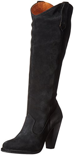 FRYE Womens Madeline Tall Western Boot Black Suede 2VQ9RIiay