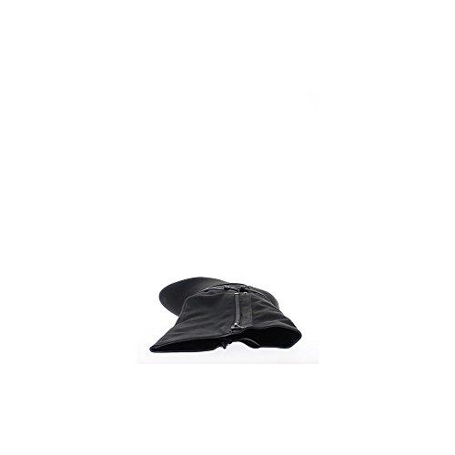 Bottes femme noires à talon de 9,5cm et mini plateforme de 1,5cm