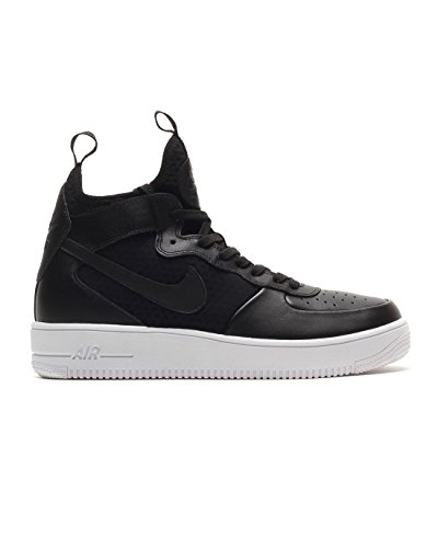 c8b2a8cbff7 Nike Mens Air Force 1 Ultraforce Mid Shoes Track Black Black White  864014-001 Size 11