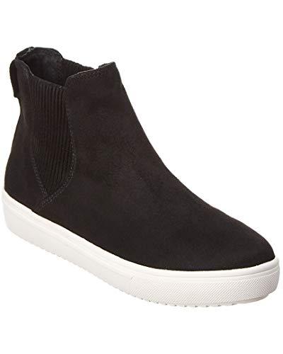 STEVEN by Steve Madden Clovis Suede Sneaker, 6.5, Black