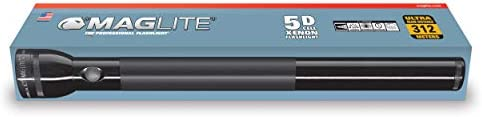 MAGLITE S5D015 5 D Cell Boxed Flashlight-Black