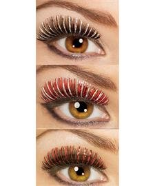 Rubie's Costume Co Sm Hologram Lashes-Black/Silver Costume]()