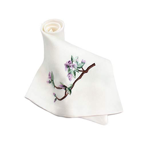Xionghaizi Four Seasons Double-layer Design Silk Small Square Scarf, Silk Embroidery Flower Handmade Small Handkerchief, Suzhou Silk Scarf Scarves, Silk Scarf Scarves, Silk Shawl Shawls, Silk Scarf - Handmade Embroidered Handkerchief