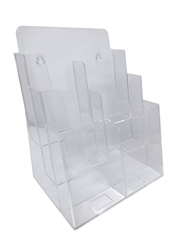 (Dazzling Displays Clear Acrylic 3-Tier Brochure Holder for 8.5