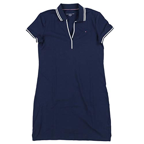(Tommy Hilfiger Womens Abby Polo Dress (Large, Navy Blue))