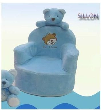 Hogar Decora Sillon Infantil Osito de Peluche Azul - Tejido ...