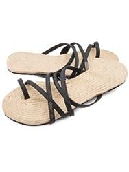 Volcom Women's Hook It Up Sandal Toe Ring Sandal, Black, 10 M US