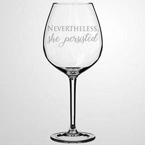 Ze Persisted Wijnglas Hand geblazen Gedrukte Wijnglazen voor Huisverwarming Perfect voor Bruiloft Party Verjaardagsdag 17 OZ