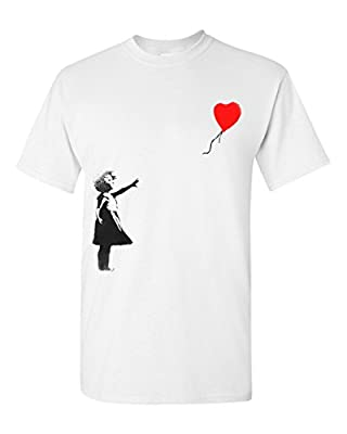 Banksy Balloon Girl Graffiti White T-Shirt