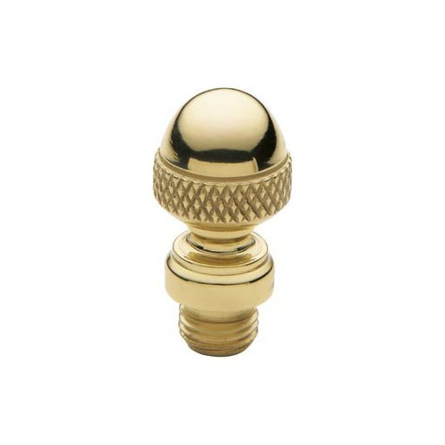 - Baldwin 1092.030 Acorn Style Finial for Square Corner Hinges, Polished Brass - Lacquered