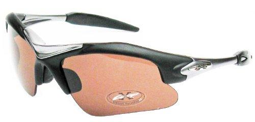 XLoop Black High Profile Amber Lens Cycling - Sunglasses Loop Sports X