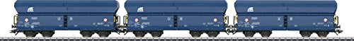 Type Falns Hopper Car 3-Pack - 3-Rail Ready to Run -- European Rail Rent ERR (Era VI, blue)