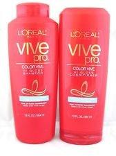 Vive Pro Color Vive Salut-Gloss Shampooing 13 Oz. Pour les femmes + Loreal Vive Pro Color Care Shampooing pour cheveux colorés