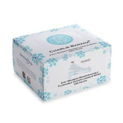 Charlie Banana ' 100-count 2-in-1 Bamboo Diaper Liners & Wipes by by Charlie Banana