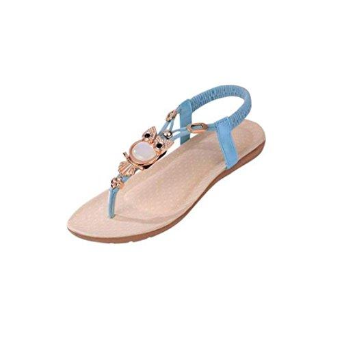 Chaussures Ouvert Beige de Shoes Plates Orteil Chaussures Clip Fille Toe Hibou Sandales Oyedens Plates Sandales Compensees Bohème Femme Femme Plage Sandales Femme q6f8w6