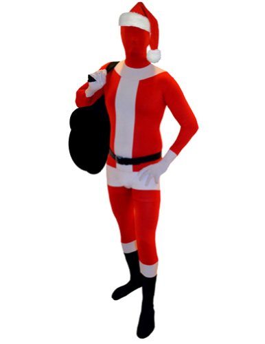 AltSkin Unisex Full Body Spandex/Lycra Suit, Santa Claus, X-Small