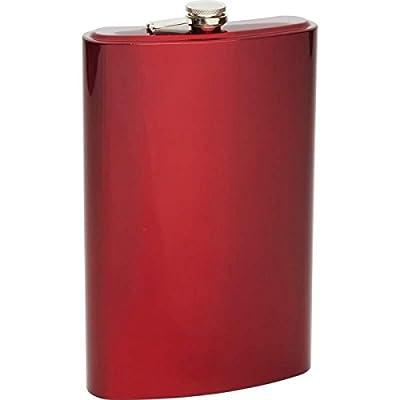 Maxam KTFLK64R Arctic Blast 64 oz Stainless Steel Flask, Jumbo, Red