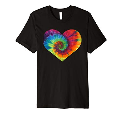 Tie Dye Rainbow Heart Shirt LGBTQ Pride Month Gift Premium T-Shirt ()