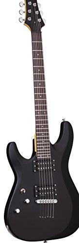 Schecter 433 C-6 Deluxe Left Handed Solid-Body Electric Guitar, Satin Black