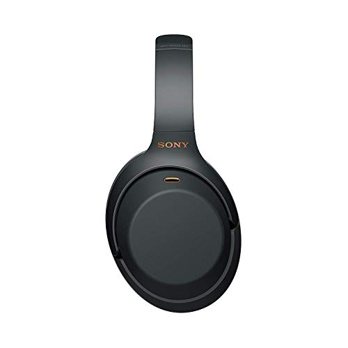 Sony WH1000XM3 Noise Cancelling Headphones, Wireless Bluetooth Over the Ear Headset – Black (2018 Version)