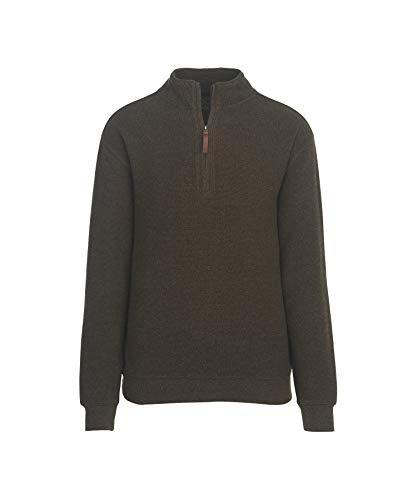 Woolrich Men's Bromley Half Zip Sweater, Mocha Heather, Medium - Half Zip Wool Sweater