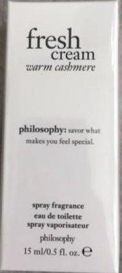 Philosophy Fresh Cream Warm Cashmere Eau de Toilette .5 oz Sealed