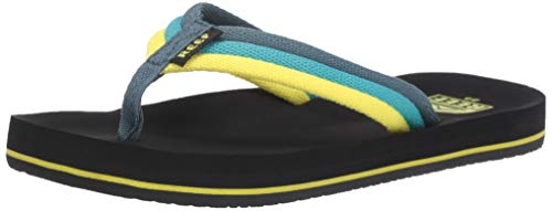 Reef Boys AHI Beach Sandal, Blue/Green, 067 M US Little Kid