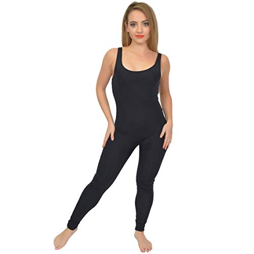 Stretch is Comfort Women's NYLON Tank Unitard Black Large