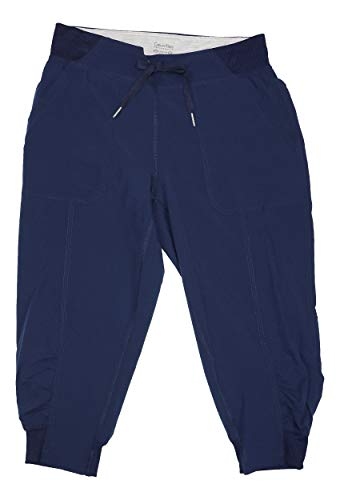 Calvin Klein Capris - Calvin Klein Performance Commuter Active Strech Woven Capri Pants Blue Medium