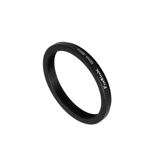 Fotodiox Metal Step Down Ring Filter Adapter, Anodized Black Aluminum 52mm-46mm, 52-46 mm ()