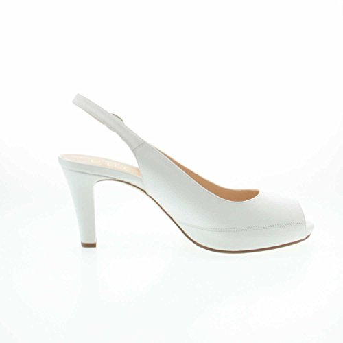 Unisa Nick_16 White Napa Silk - Sandalias de vestir de Piel Lisa para mujer Weiß