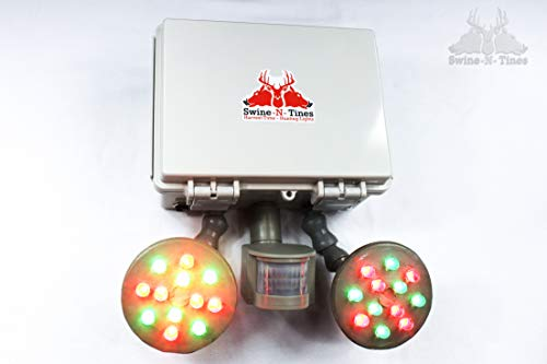 Feeder Light! Harvest-Time Motion Activated, Amber Glowing Light for Night Hog Hunting - Solar Powered - X-Cell Package ()