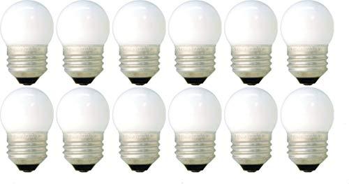 (12 Pack of 7.5-Watt S11 Sign Indicator 7.5S11 Medium (E26) Base White Incandescent Light Bulb)